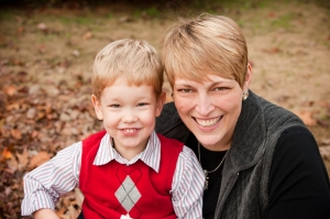 Heather Van Looy, Independent Stampin' Up! Demonstrator, and son, Carter.