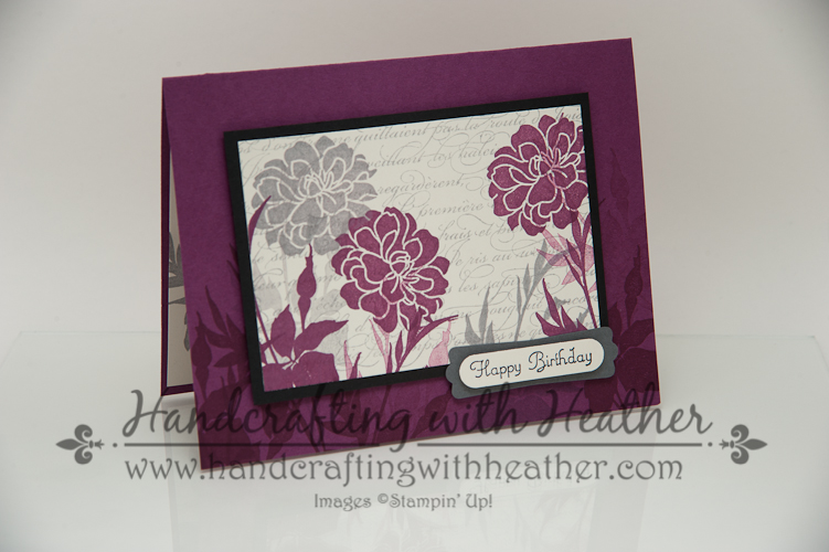 Fabulous Florets Layered Panel Birthday Card Stampin Up