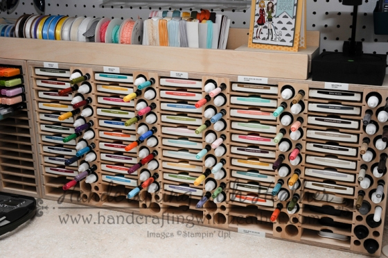 Stamp-n-Storage Combo Ink Pad Holder houses all of my ink pads, ink refills, and Stampin' Write Markers.