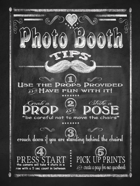 Photo Booth instructions 8x10 print
