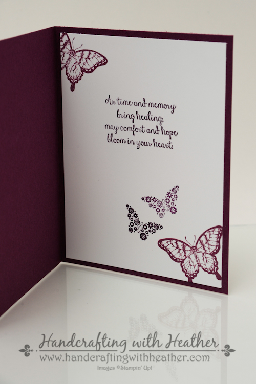 swallowtail sympathy card stampin up handcrafting with heather