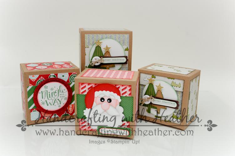 Santa co and nordic noel holiday treat boxes stampin