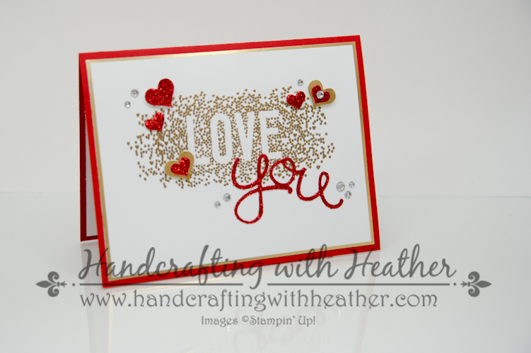 seasonally scattered valentine 1 of 6 - Stampin Up Valentine Cards